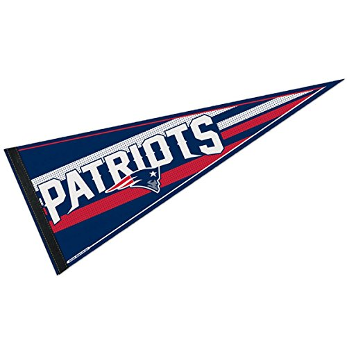 """WinCraft NFL New England Patriots WCR63775014 Carded Classic Pennant, 12"""" x 30"""""""