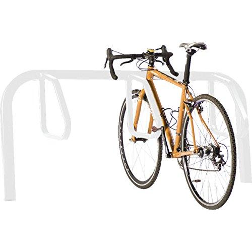 733606 Single-Sided Bicycle Rack, Below Grade Mount, White, 3 Bike Capacity