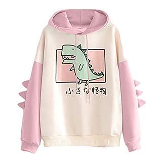 Meikosks Sweatshirts for Women Junior Girls Fashion Japanese Kawaii Hoodie Casual Cute Dinosaur Tops