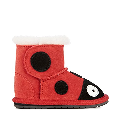 - EMU Australia Lady Bird Walker Boot (Infant/Toddler),Red/Rouge,6-12 Months M US Infant