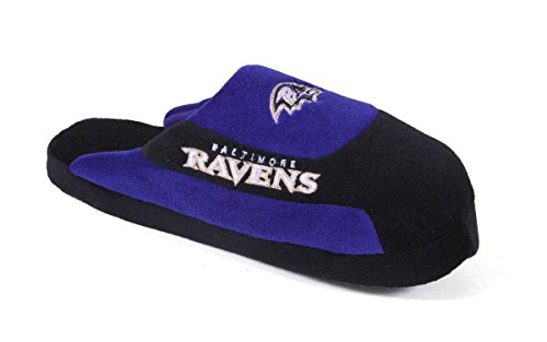 Pro OFFICIALLY and Pro Mens Feet Feet Happy Low Ravens Slippers Baltimore LICENSED Low Womens Comfy NFL awZATRx