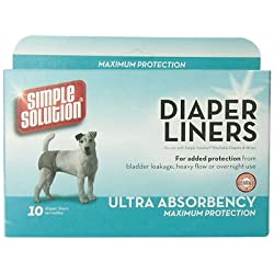 Simple Solution Heavy Absorbency Diaper Liners Maximum Protaction 10ct