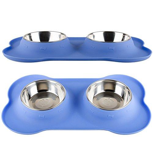 Fossa-Double-Dog-Bowl-Large-Stainless-Steel-2-X-24-oz-Feeding-Station