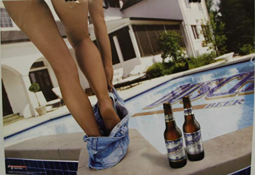 busch beer Poster Nice Legs at The Pool Pinup 2005