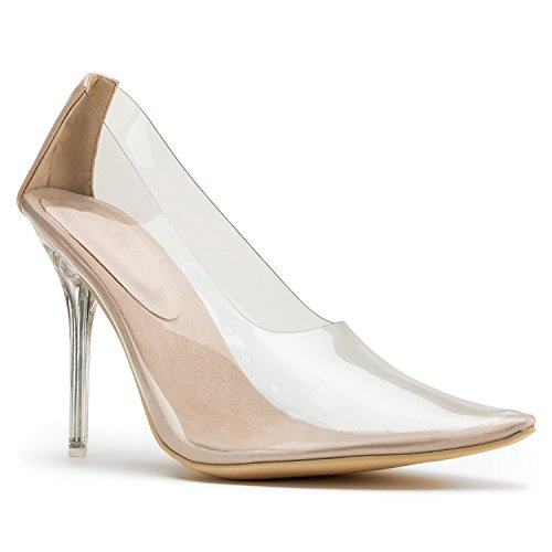 Inspired Of Transparent Toe Fashion Rf Stiletto On Celebrity Pvc Slip Pumps Jelly Room Nude Pointy Shoes qIxHnFwFWT