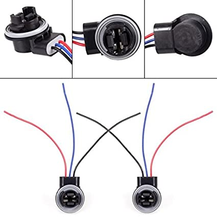 amazon com partssquare sockets plugs harness wire for standard 3157 Lamp Socket Wiring Diagram image unavailable image not available for color partssquare sockets plugs harness wire for standard 3157