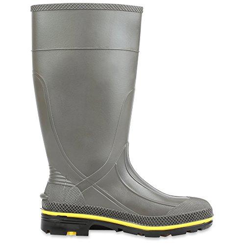 Servus Pro 15 Stivali da lavoro in acciaio inossidabile resistente agli agenti chimici in PVC, grigio, giallo e nero (75101)