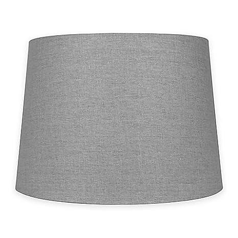 Mix match medium 14 inch lamp shade in grey linenpolyester mix match medium 14 inch lamp shade in grey linenpolyester fabric aloadofball Gallery