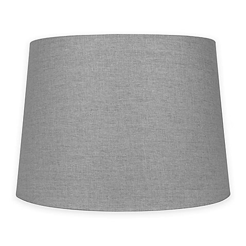 Mix & Match Medium 14-Inch Lamp Shade in Grey | Linen/polyes