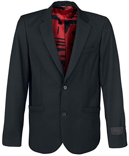 Musterbrand Hitman Blazer Homme Intrigue Two Button, Agent 47 Noir L