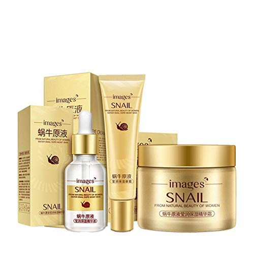 Pure Whitening Skin Repair Essence - IT MUST HAVE Images 3pcs/lot Snail Face Care Set Day Cream/Essence/ Eye Cream Anti Aging Repair Whitening Nourishing Facial Snail Skin Set