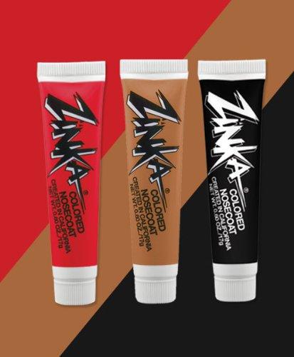 Zinka Team Face Paint And Sun Block - San Francisco - Red/Flesh/Black