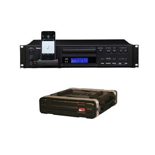 - Tascam CD-200i Rackmountable CD Player with iPod Dock for iPod Music Player, 1/4
