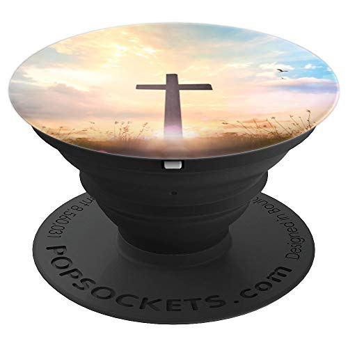Jesus Christ Cross with Sunshine Heaven Popsocket - PopSockets Grip and Stand for Phones and Tablets