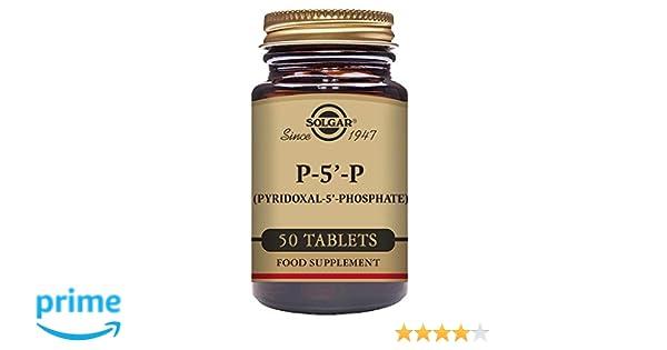 Solgar Piridoxal 5 Fosfato Vitaminas - 50 Tabletas: Amazon.es: Salud y cuidado personal