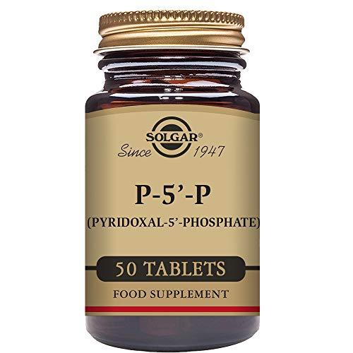 Solgar – Pyridoxal-5-Phosphate (P-5-P) 50 mg (Specially Coated) 50 Tablets