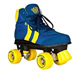 Rookie Retro V2.1 Skates with 4 Wheels, Unisex Adult, Unisex adult, RKE-SKA-0394, Blue/Yellow, 39.5