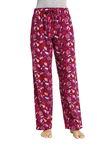 - CYZ Women's 100% Cotton Super Soft Flannel Plaid Pajama/Louge Pants-ForestHoliday-L