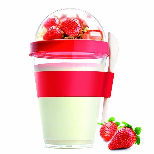 Asobu YO2GO Yogurt Container, Red