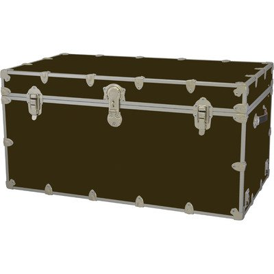 Jumbo Trunk (Jumbo Armor Trunk Color: Brown, Tray: Hardwood Tray - Jumbo)