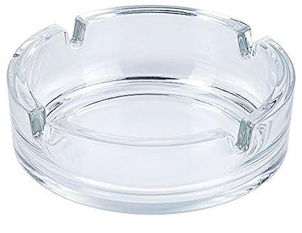 Cenicero de cristal, transparente, 4 bandejas de encendedor de/diámetro 10,5