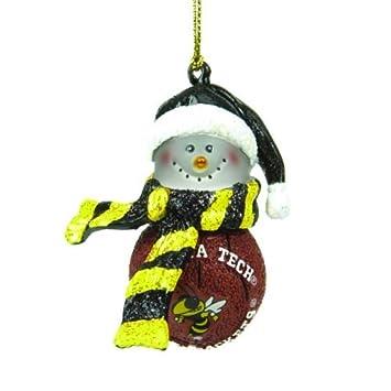 Georgia Tech Yellow Jackets Striped Snowman Basketball Christmas Ornament - Amazon.com: Georgia Tech Yellow Jackets Striped Snowman Basketball