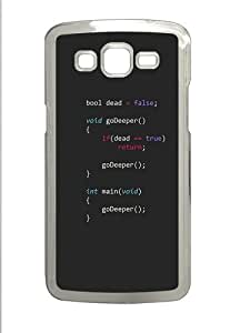 Inception Programming Polycarbonate Hard Case Cover for Samsung Galaxy Grand 2¿C Transparent