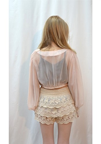 Exceptional Products -  Maglia a manica lunga  - Donna Rosa Soft Pink Taglia unica
