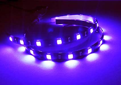 Blue 2x LED Light Strip 30cm Car Truck Motorcycle Sidelight Indicator Under Bumper Fog Lamp Tail Stop Daytime Light DRL Interior Universal Fit
