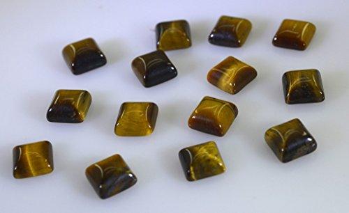 oeil de tigre pierres précieuses en vrac 1 morceaux 7 x 7 mm princesse brune cabochon pierres précieuses