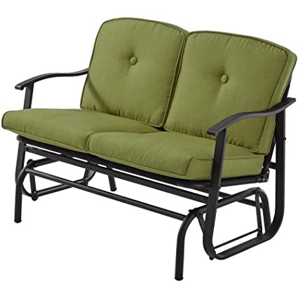 Swell Mainstay Belden Park Cushion Glider Green Pdpeps Interior Chair Design Pdpepsorg
