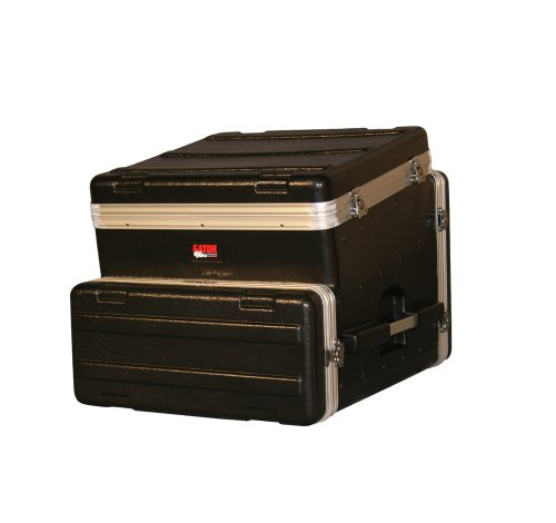 Console 4 Rack - Gator Cases Lightweight ATA Molded Slant-Top Console Rack Case; 10U Top and 4U Side (GRC-10X4)