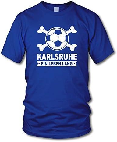 Gr/ö/ße S Karlsruhe shirtloge Fan T-Shirt EIN Leben Lang 3XL