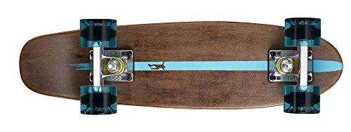 Ridge Erwachsene Maple Holz Mini Cruiser Number Two Skateboard, Clear Blue, MPB-22-NR2