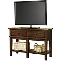 Ashley Furniture Signature Design - Gately Sofa Console Table - 2 Drawers and 2 Fixed Shelves - Vintage Casual - Medium Brown