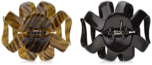 Scunci No-Slip Grip Octopus Clip, Black and Tortoise, (Hair Clips Grips)