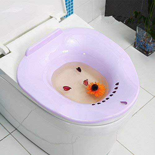 She-love Bath Hip Bath Tub Kit, Avoid Squatting for Pregnant Women, Hemorrhoids Patients on the Toilet (Purple)
