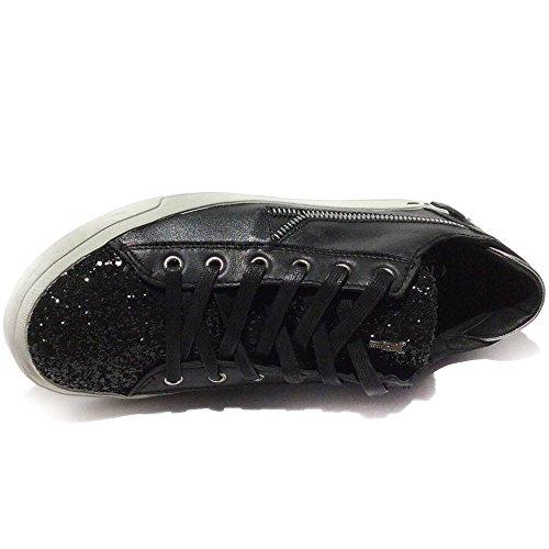 Crime London - Zapatillas de Piel para mujer Negro negro 37 41
