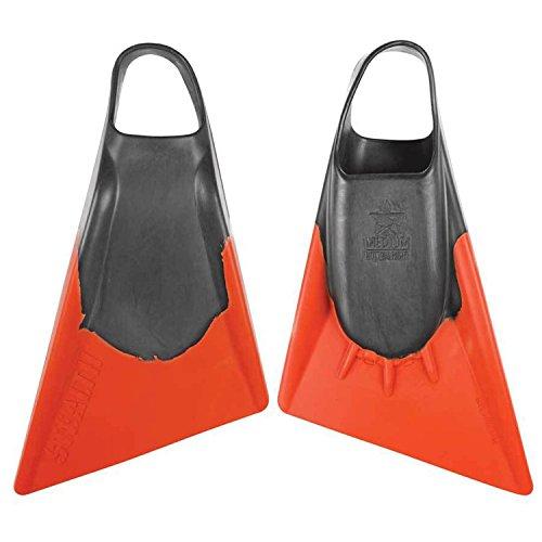 STEALTH Swim Fins - Training Swim Fins- Choose Color and Size (Classic Orange/Black, 7-8.5 (Medium))