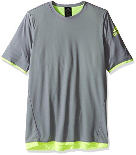 adidas Youth Soccer Urban Football Reversible Jersey, Grey/Solar Yellow, -
