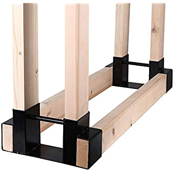 Amazon Com Sunnydaze Outdoor Firewood Log Rack Bracket