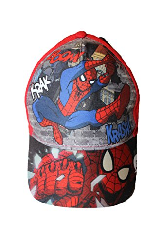 marvel-casquette spiderman-rouge-garçon
