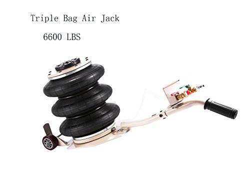 (SHZOND Bag Air Jack 6600LBS Weight Capacity 3 Bag Pneumatic Jack Handy and Easy Storage Air Jack Lift for Fast Set Up on Frame Machine (3 bag air)