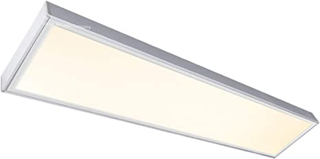 40w Surface Mount Led Panel Light 1200 X 300 Frame With Led Ceiling Light Warm White 3500k Includes Transformer Amazon Co Uk Lighting