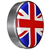 MasterSeries - Continental Tire Cover Kit (245/75R16 ) - (Molded Plastic Face & Polished Stainless Ring) - Union Jack Flag Print
