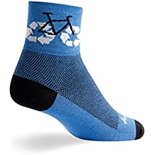 "SockGuy, Classic Recycle Bike Mens Socks, cuff height 3"", size L / XL"