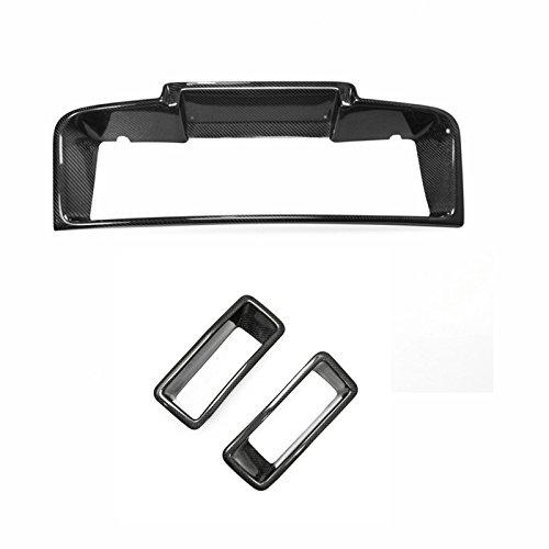 (Carbon Fiber For NISSAN Skyline R32 GTR Front Bumper Intercooler Cover + Carbon Bumper Vents Air Ducts 3PCS)