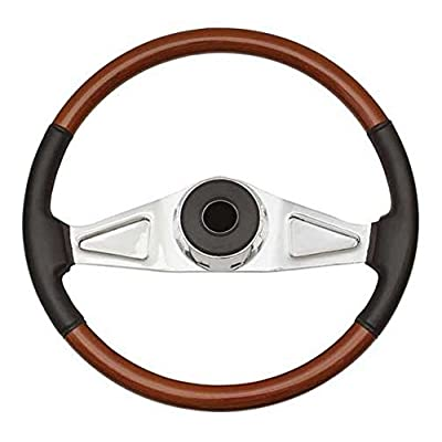 Woody's WP-SWKW9701L.2 Rosewood Chrome Truck Steering Wheel (Beautiful African Hardwood): Automotive