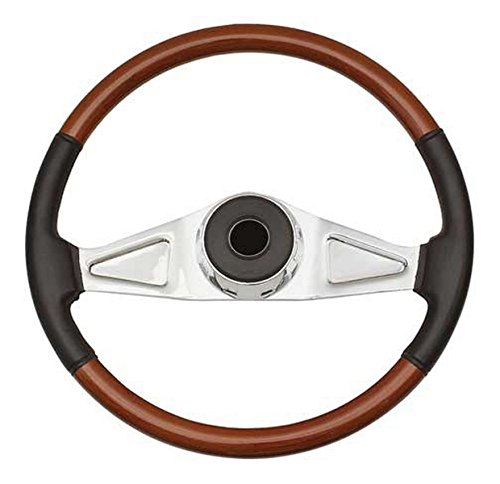 Woody's WP-SWKW9701L.2 Rosewood Chrome Truck Steering Wheel (Beautiful African Hardwood) by Woody's