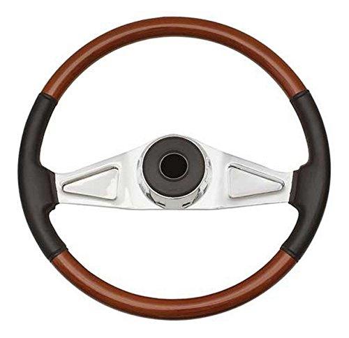 Woody's WP-SWKW9701L.2 Rosewood Chrome Truck Steering Wheel (Beautiful African Hardwood)